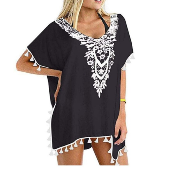 Ritchie Lavel Other - Coverup Dress Lace Crochet Kaftan Women Swimsuit